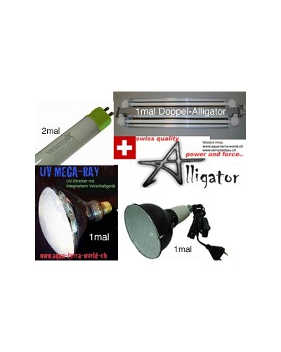 UV/T5 Komplett-<strong>Set 1c</strong> <i>120cm Echsen-Terrar</i