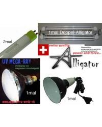 UV/T5 Komplett-Set 1c 120cm Echsen-Terrar